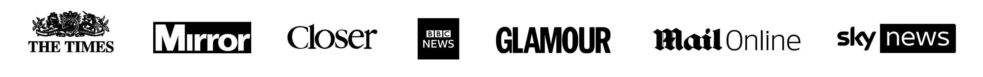 Newspaper and magazine logos