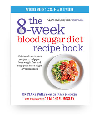 'The 8 week blood sugar diet recipe book' book cover
