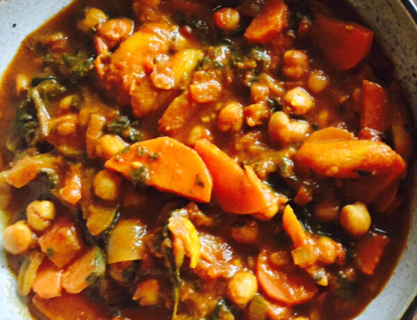 Chickpea Tagine with Orange Apricots